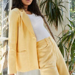 Song of Style - Zoe Blazer, Buttercream Yellow NWT